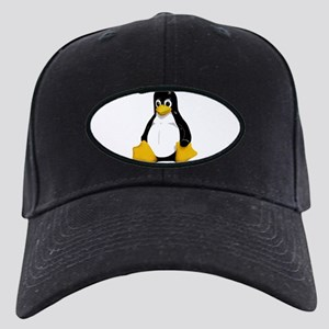 Tux the Penguin Black Cap
