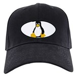 Tux the Penguin Black Cap