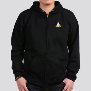 Tux the Penguin Zip Hoodie (dark)