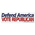 Defend America, Vote Republican Bumper Sticker