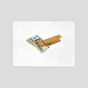 PaperClipMoney080209 5'x7'Area Rug