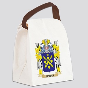 Sprout Family Crest - Coat of Arm Canvas Lunch Bag