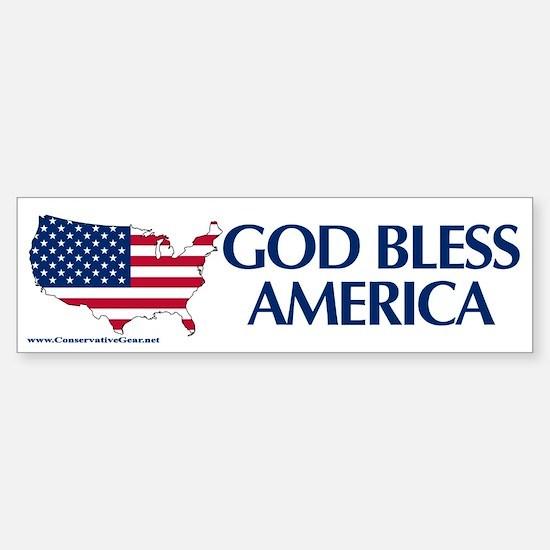 God Bless America Bumper Bumper Sticker