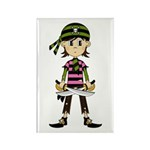 Little Bandana Pirate Rectangle Magnet (10 pack)