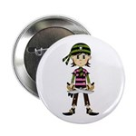 "Little Bandana Pirate 2.25"" Button"