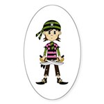 Little Bandana Pirate Sticker (Oval 10 pk)