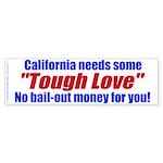 Cal Tough Love (Bumper Sticker)