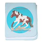 Keep the Cowboy Horse baby blanket