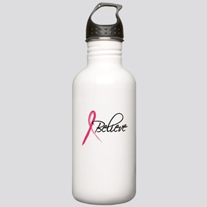 pink ribbon believe Stainless Water Bottle 1.0L