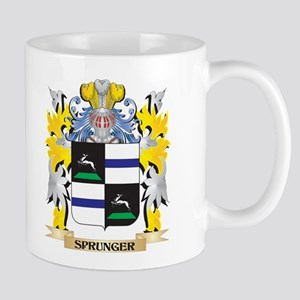 Sprunger Family Crest - Coat of Arms Mugs