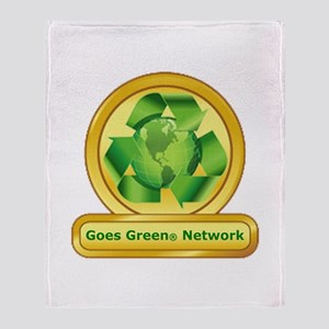 Goes Green Items Throw Blanket