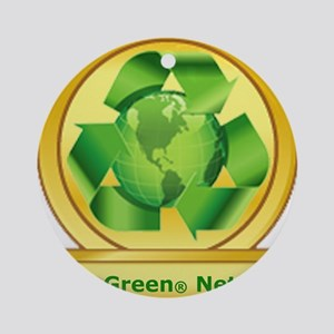 Goes Green Items Ornament (Round)