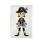 Little Pirate Captain Rectangle Magnet (100 pack)