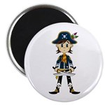 "Little Pirate Captain 2.25"" Magnet (100 pack)"