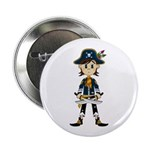 "Little Pirate Captain 2.25"" Button (100 pack)"