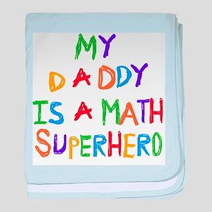 Daddy Math Superhero baby blanket