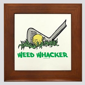 Weed Whacker Sports Framed Tile