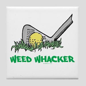Weed Whacker Sports Tile Coaster