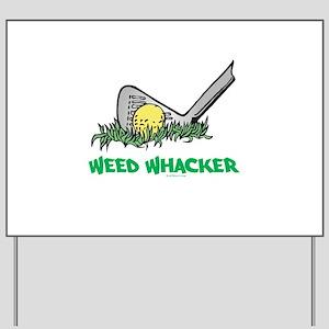 Weed Whacker Sports Yard Sign