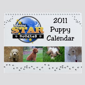 Blazing Star Doodles Puppy Wall Calendar for 2011