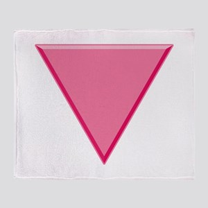 Pink Triangle Gay Pride Throw Blanket