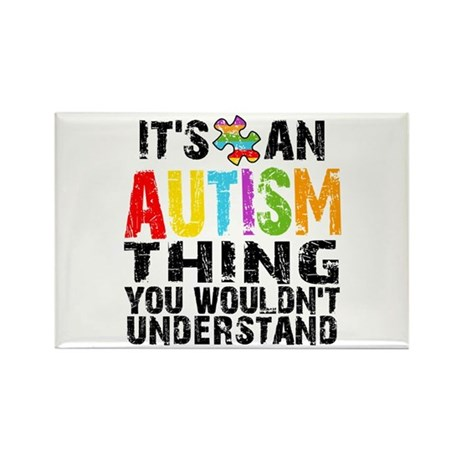 Autism Thing Rectangle Magnet