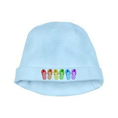 Rainbow Flip-Flops baby hat