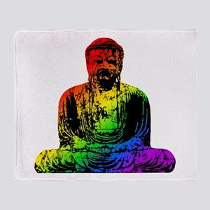Rainbow Buddha Throw Blanket