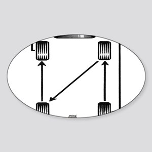 Rotate Wheels Sticker (Oval)