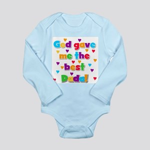 God Gave Me Best Dada Long Sleeve Infant Bodysuit