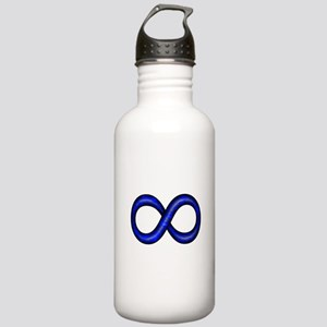 Blue Infinity Symbol Stainless Water Bottle 1.0L
