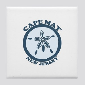 Cape May NJ - Sand Dollar Design Tile Coaster