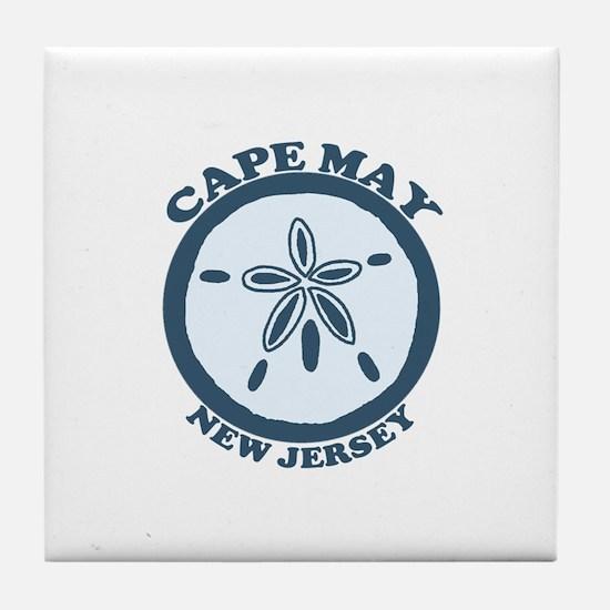 Cape May NJ - Sand Dollar Design Tile Coaster