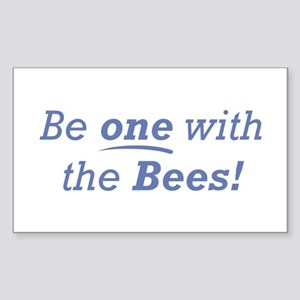 Be one / Bees Sticker (Rectangle)