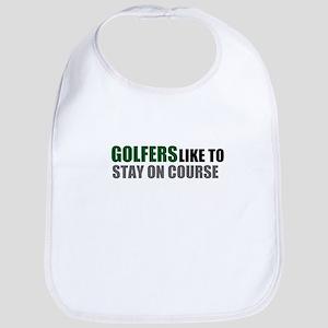 Golfers Stay on Course Bib