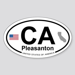Pleasanton Sticker (Oval)