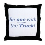 One with the Truck Throw Pillow