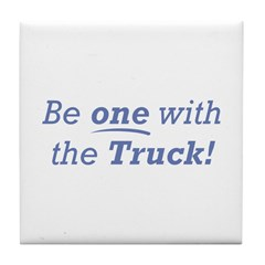 One with the Truck Tile Coaster