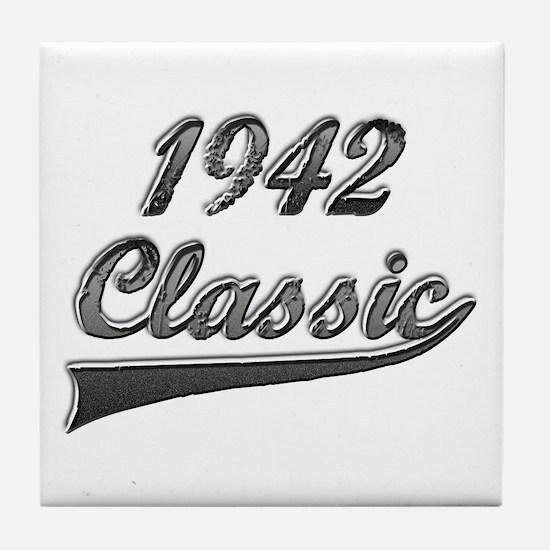 Cute 1942 birthday Tile Coaster