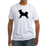 Malamute Silhouette Fitted T-Shirt