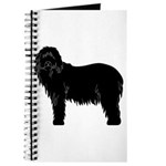Bearded Collie Silhouette Journal