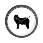 Bearded Collie Silhouette Wall Clock