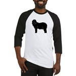 Bearded Collie Silhouette Baseball Jersey