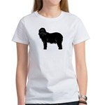 Bearded Collie Silhouette Women's T-Shirt
