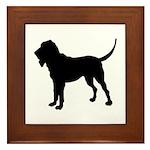 Bloodhound Silhouette Framed Tile