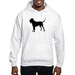 Bloodhound Silhouette Hooded Sweatshirt