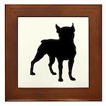 Boston Terrier Silhouette Framed Tile
