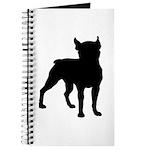 Boston Terrier Silhouette Journal