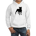 Boston Terrier Silhouette Hooded Sweatshirt