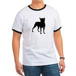 Boston Terrier Silhouette Ringer T